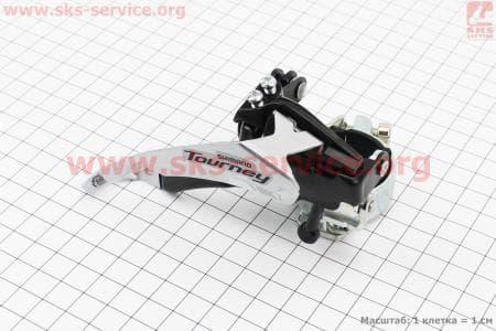 Перекидка цепи передняя с универсальной тягой, крепл. 31,8/34,9мм, под шатун 42T, FD-TY500-TS6для велосипеда