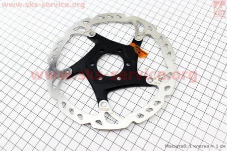 Тормозной диск 160мм, под 6 болтов, на алюминиевом пауке, SM-RT76для велосипеда