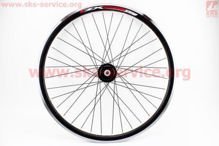 """Колесо велосипедное 26"""" переднее MTB """"капля"""" обод алюминиевый, втулка QUANDO 14Gx36H в сборе, под диск. тормоз, крепл. гайка """"ZX Gravity"""""""