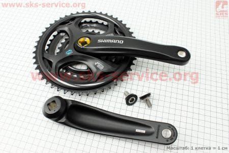 """Шатуны """"квадрат"""" 170мм, 48.38.28T МТВ, алюминиевые, черные FC-M311 для велосипеда"""