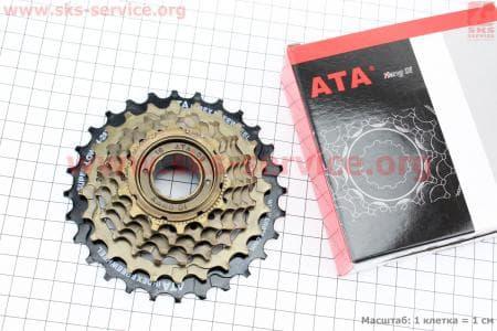 Вольнобег 6зв. 28,24,21,18,16,14Т index, черно-бронзовый KDF-611для велосипеда