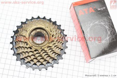 Вольнобег 7зв. 28,24,22,20,18,16,14Т index, черно-бронзовый KDF-711для велосипеда