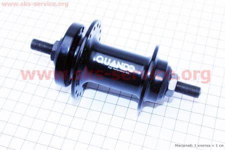 Втулка передняя MTB алюминиевая 14Gx36H под диск.тормоз, крепл. гайка, черная KT-TD6Fдля велосипеда