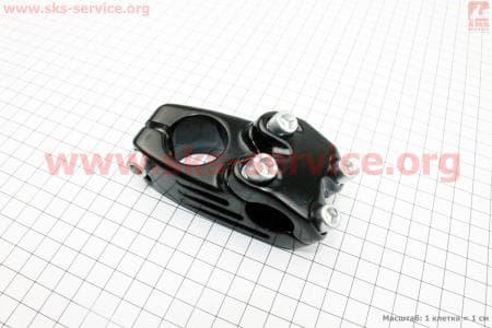 Вынос руля ВМХ алюминиевый 22,2х28,6х45мм, черный MX-628для велосипеда