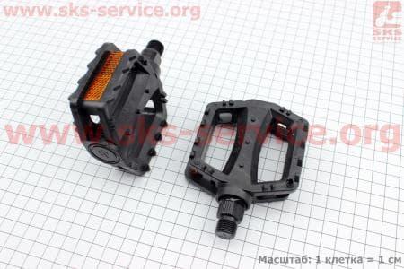 """Педали CHILD 9/16"""" (95x78x25mm) пластиковые, черные FP-651 для велосипеда"""