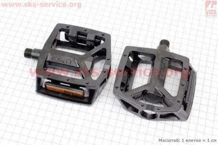 """Педали BMX 9/16"""" (111.5x102x22mm) алюминиевые, черные VB-249DU для велосипеда"""