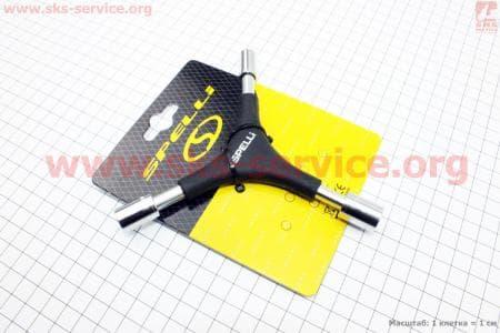 Ключ Y-образный 6 предметов (шестигранники 4,5,6мм, головки 8,10,12мм), SBT-2715 для велосипеда