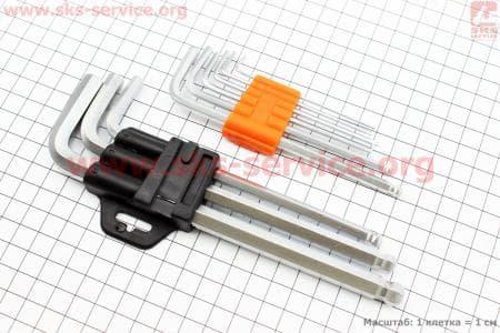 Ключ-набор 9 предметов (шестигранники 1.5,2,2.5,3,4,5,6,8,10мм), KL-9705 для велосипедов