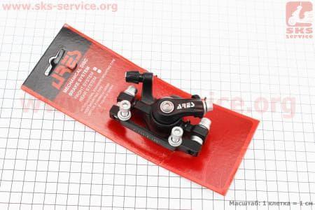 Тормозной суппорт передний (адаптер F160/R140мм), черный MDA08 для велосипеда