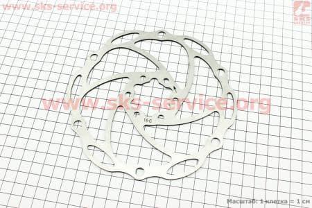 Тормозной диск 160мм, под 6 болтовдля велосипеда