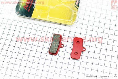 Тормозные колодки диск. тормоз к-кт (Shimano Saint 2009, zee), YL-1039 для велосипеда