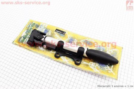 Насос МТВ алюминиевый с узким манометром, Т-ручкой, GP-91 для велосипедов