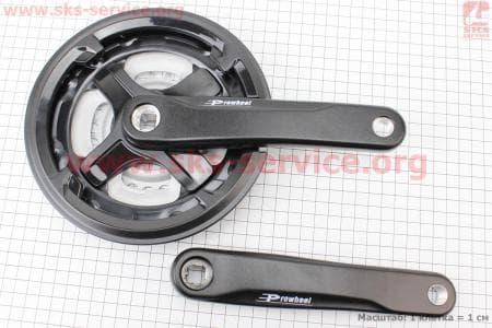 """Шатун (крепление """"квадрат"""") 170мм, 42.34.24T к-кт MTB, алюминиевые, черные TA-CN68 для велосипеда"""