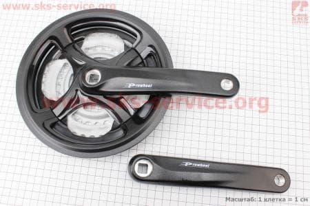 """Шатуны """"квадрат"""" 170мм, 48.38.28T MTB, алюминиевые, черные TY-CM99 для велосипеда"""