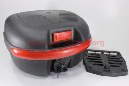 Кофр МАТовый черный отстегивающийся HF-851 430*390*280мм