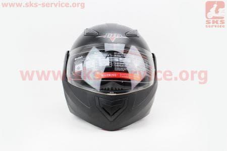 Шлем закрытый с откидным подбородком+очки BLD-157 S- ЧЕРНЫЙ матовый