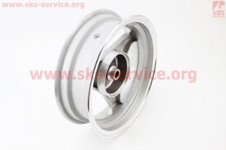 D07 Диск литой задний (бараб. торм. для 50сс) MT3,5xJ12, серебристый для китайских скутеров