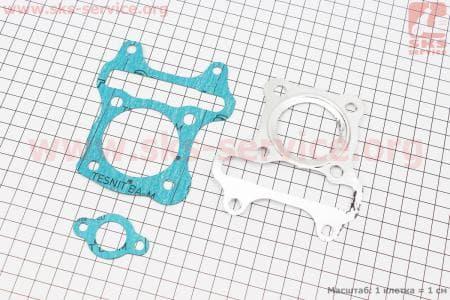 Прокладка цилиндра, головки цилиндра, натяжителя к-кт 3шт Suzuki Lets 4T(безасбест)для японских скутеров