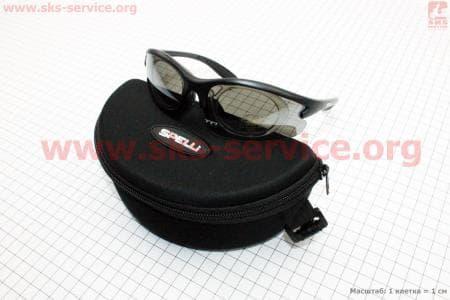 Очки велосипедные черные + линзы сменные 4к-кт + набор для ухода, в чехле жестком SGL-643
