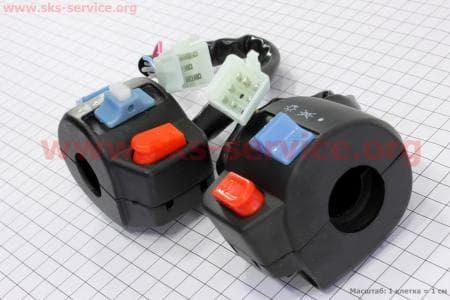 Блок кнопок на руле левый + правый к-ктдля китайских скутеров