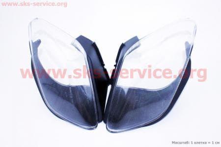 """Viper - Tornado пластик - """"стекло"""" фары передней левой, правой к-ктна скутера разных моделей (Китай, импорт) """
