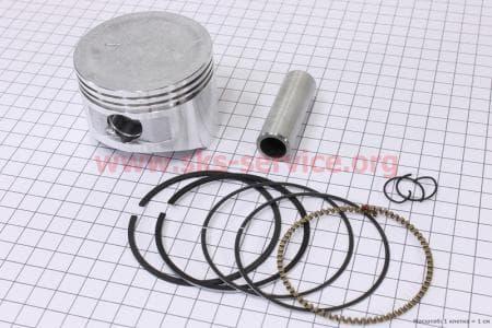 Поршень, кольца, палец к-кт 170F 70мм STDна двигатель мотоблок бензновый 168F-6,5л.с.