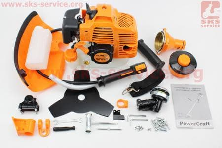 Триммер (мотокоса) Power Craft BK5940n - 4,0кВт (леска+нож 3Т) к ТРИММЕРАМ (мотокосам) 