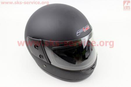Шлем закрытый 825-2 S- ЧЕРНЫЙ матовый