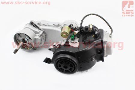 Двигатель скутерный в сборе 4Т-80куб (короткий вариатор, длинный вал)