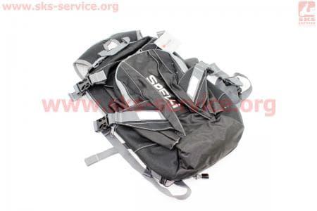 Рюкзак велосипедный влагозащитный 20 литр., с отсеком для шлема, чехлом от дождя, вентилируемые накладки на спину, светоотражающие полосы, черный COMFORT SBP-059