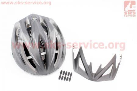 Шлем велосипедный L (59-65 см) съемный козырек, 10 вент. отверстия, системы регулировки по размеру Divider и Run System SRS, черный матовый SBH-4000