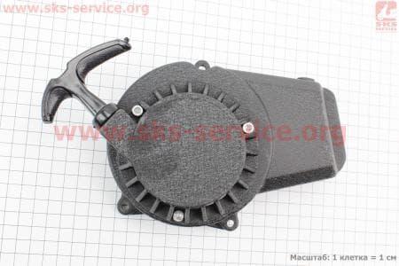 """ATV детский - Крышка двигателя с ручным стартером в сборе (метал """"черный""""), тип. 1 для квадроцикла"""