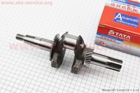 Коленвал под шлиц Ø20мм L=250мм для двигателя мотоблока 168F/170F