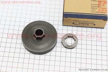 Тарелка сцепления + звезда 325-7 для китайских бензопил 4500/5200+сепаратор