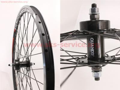 """Колесо 26"""" переднее MTB """"капля"""" обод алюминиевый, втулка QUANDO 14Gx36H в сборе, под диск. тормоз, крепл. гайка """"PANTHER"""" для велосипеда"""