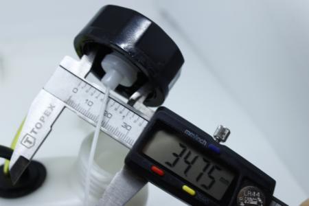 Бак топливный 2 отверстия под крепление, боковая горловина короткая для мотокос