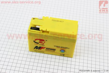 "Аккумулятор ""таблетка-Honda"" YTR4A-BS, 115/50/85мм, 2018 (завод OUTDO)"