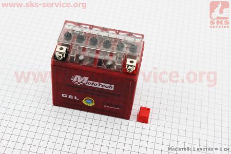 Аккумулятор 5(7)Аh YTZ7S гелевый (L113*W70*H107mm) для разной мототехики