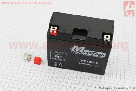 Аккумулятор 12Аh YT12B-4 (гелевый) 150/70/130мм, 2018