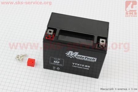 Аккумулятор 12Аh YTX12-BS(гелевый) 150/85/130мм, 2018