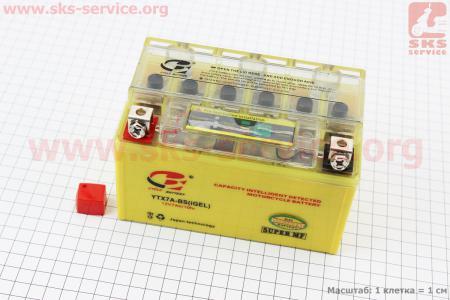 Аккумулятор 7Аh YTX7A-BS (гелевый, желтый) 150/85/95мм с ИНДИКАТОРОМ, 2018, от 8шт -3% (завод OUTDO)
