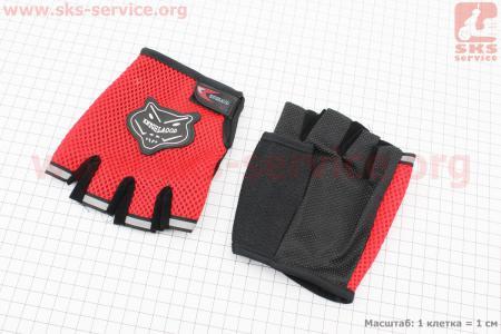 Перчатки без пальцев L-Красные
