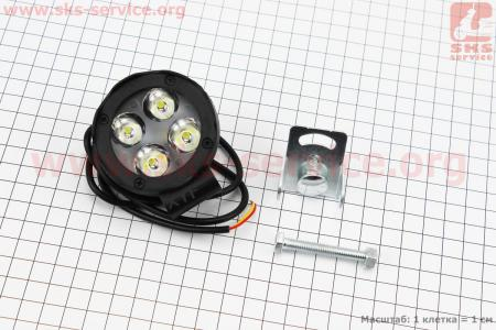 Фара дополнительная светодиодная влагозащитная - 4 LED с креплением