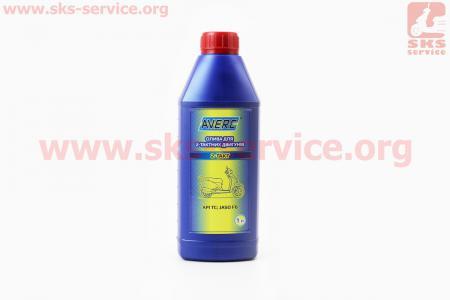 2T масло для 2-х такт. двигателей полусинтетическое, 1л