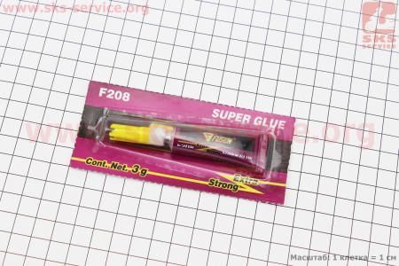 Super Glue- СУПЕР КЛЕЙ (клеит дерево, пластик, метал) 3g