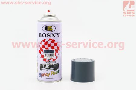 "BOSNY- №10 Краска-акрил ""ТЕМНО-СЕРЫЙ"", Аэрозоль 400ml"