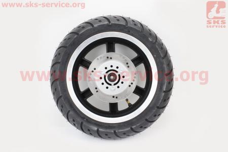 D16 Диск литой передний (диск. торм. ось 12мм)  MT3,5x12  + шина 120/70-12 + диск тормозной (с разборки)