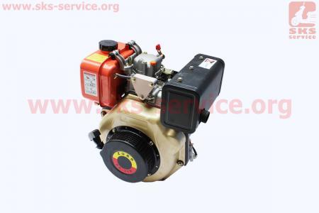 Двигатель мотоблочный в сборе под шлиц Ø25мм+стартер 6 л.с. 178FЕ (HT-105) ZUBR