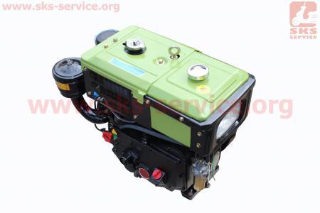 Двигатель мотоблочный в сборе + 8л.с. (завод ZUBR) SH180NDL длинная крышка
