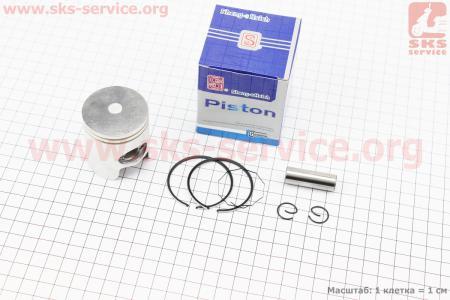 Поршень, кольца, палец к-кт Honda DIO ZX65 44мм +0,25 синяя коробка (палец 12мм)